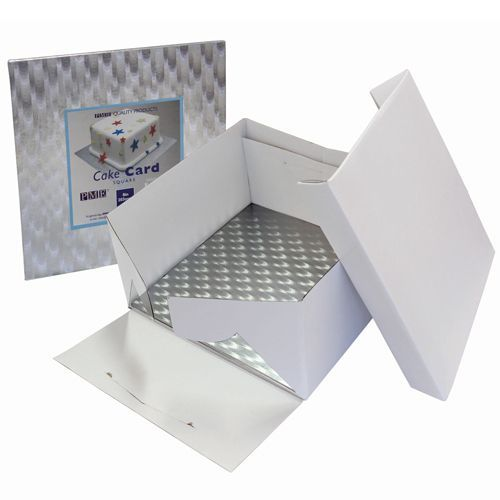 PME Cake Box & Cake Board eckig 3 mm - 20x20x15 cm