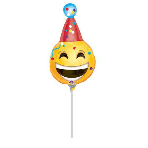 Party emoji Mini-Folienballon