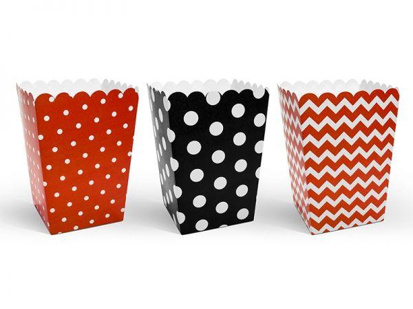 Popcorn Boxes Marien- Käfer 7,5X7,5X12,5cm/6