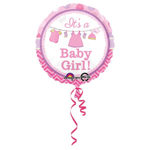 Shower with Love Girl Folienballon 43 cm