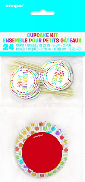Rainbow B-Day Cupcake Kit
