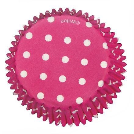 Wilton Muffin Förmchen Pink gepunktet