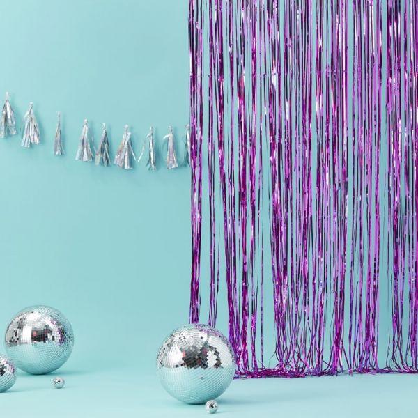 Pink Foil Vorhang Good Vibes