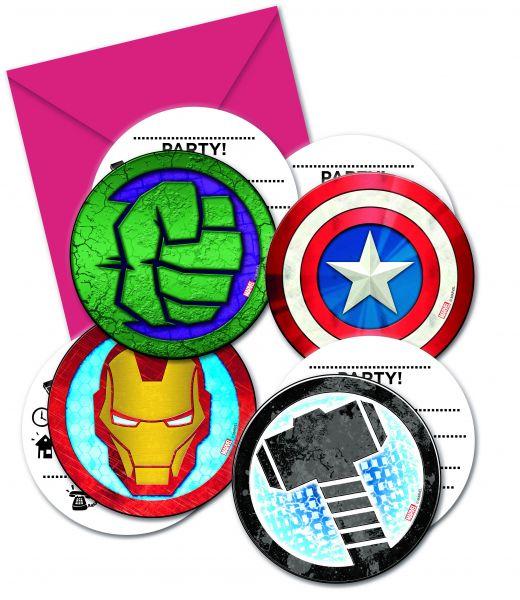 Mighty Avengers Einladungskarten
