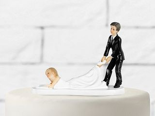 Brautpaar lustig