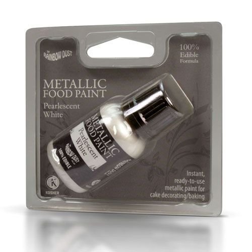 Metallic Food Paint White