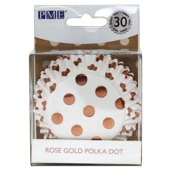 PME Muffin Förmchen Rosegold Polka Dot