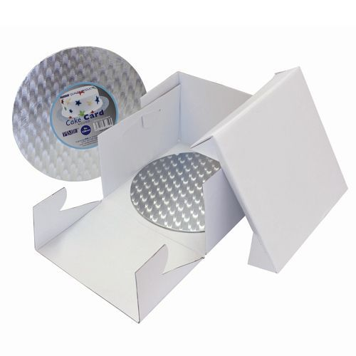 PME Cake Box & Cake Board rund 3 mm - 32,5x32,5x15 cm