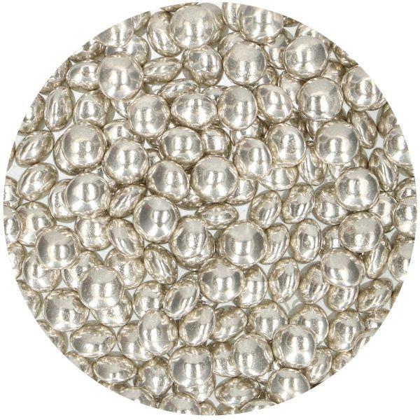 Schokodragees Metallic Silver