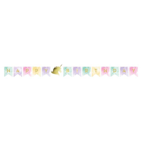 Unicorn Sparkle Banner Foil