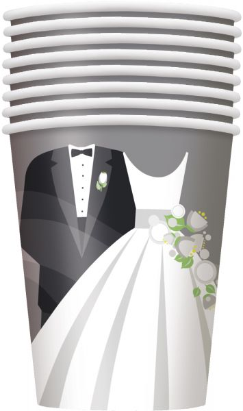 Silver Wedding 8 Pappbecher 266 ml