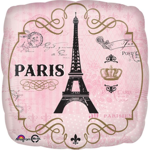 A Day in Paris Folienballon 43 cm