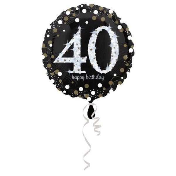Sparkling 40 Birthday Folienballon 43 cm