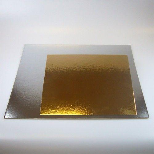 Cake Boards-Silber & Gold-Quadratisch 20 X 20 cm/3