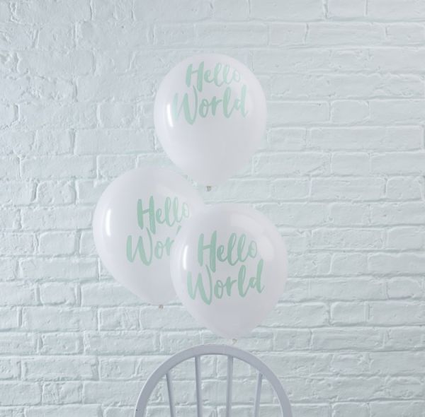 Mint Balloon Hello World