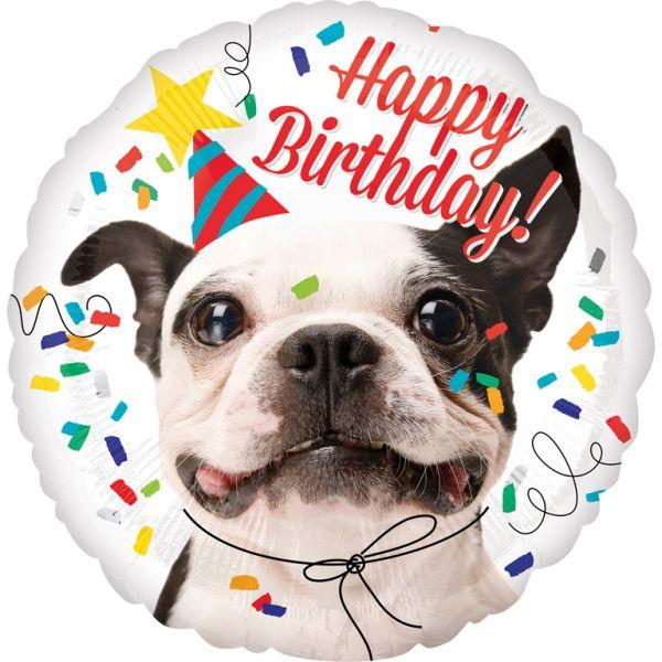 Happy Birthday Dog Folienballon 43 cm