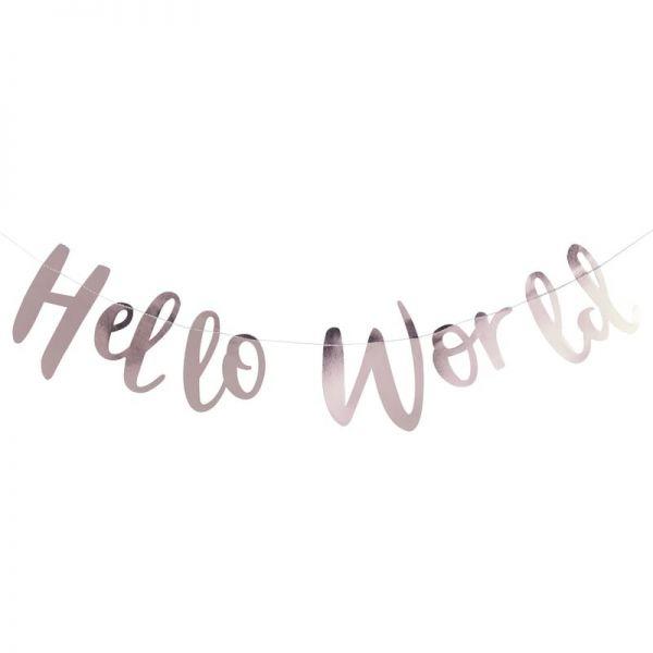 Rose Gold Hello World Banner