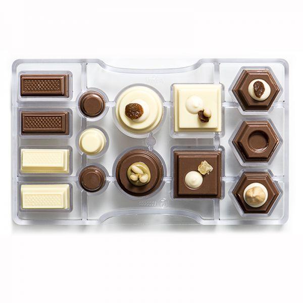 Schokoladenform geometrisch 20X12X2,2cm