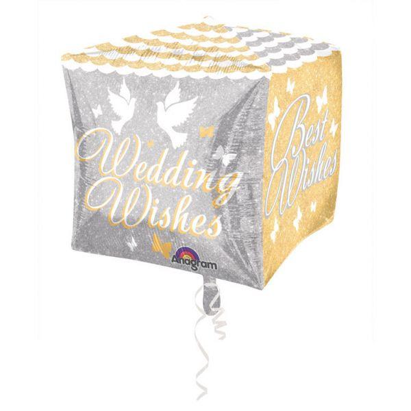 Wedding Wishes Folienballon 38 X 38 cm