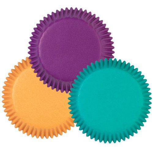 Mini Muffin Förmchen Lila/Grün/Gelb