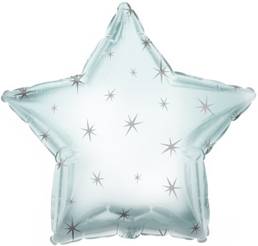 Silver Sparkle Star Folienballon 43 Cm