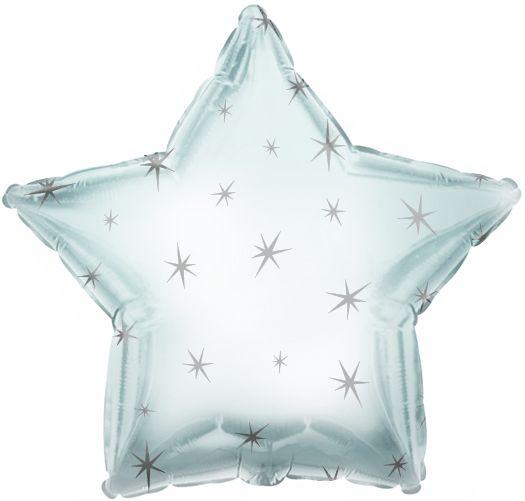 Silver Sparkle Star Folienballon 43 Cm
