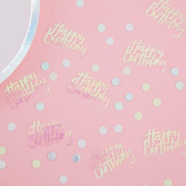 Happy Birthday Konfetti iridescent