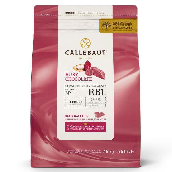 Schokoladen Callets Callebaut Ruby 2,5 kg