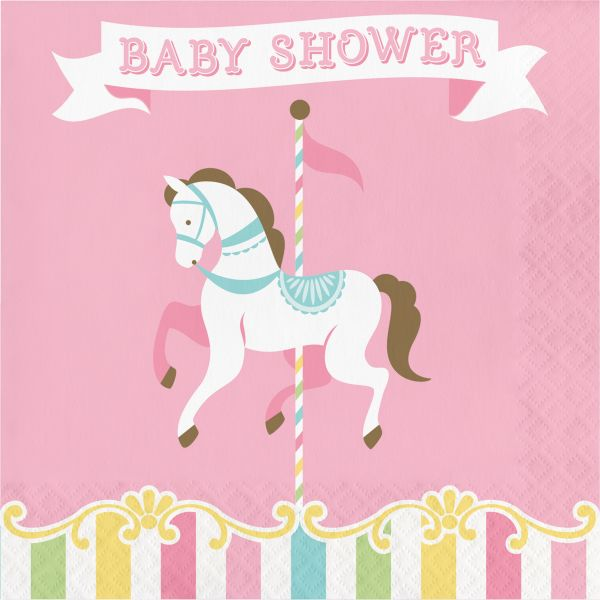 Karusell Servietten Baby Shower