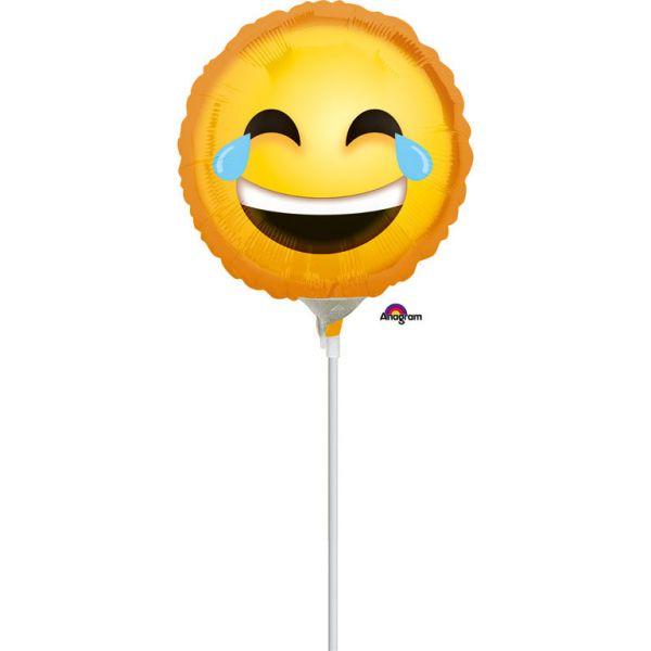 Lachendes Smiley Mini-Folienballon