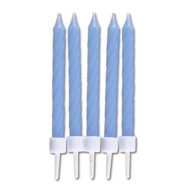 10 Kerzen - hellblau