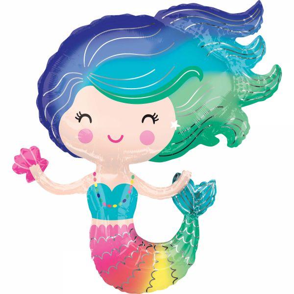 Colorful Mermaid Folienballon 73 X 76
