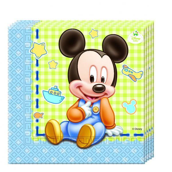 Baby Mickey-Servietten