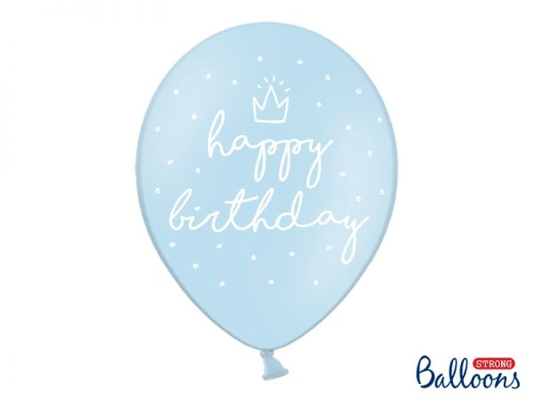 Ballon Happy Birthday Pastel Blue 30 cm/6