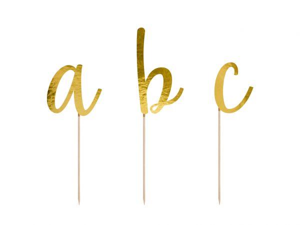 Cake Topper Alphabet 9,5 - 12 cm