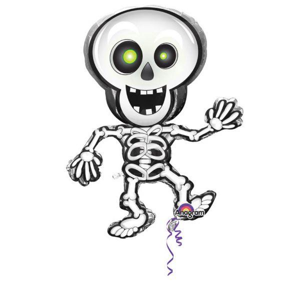 Tanzendes Skelett Folienballon Supershape