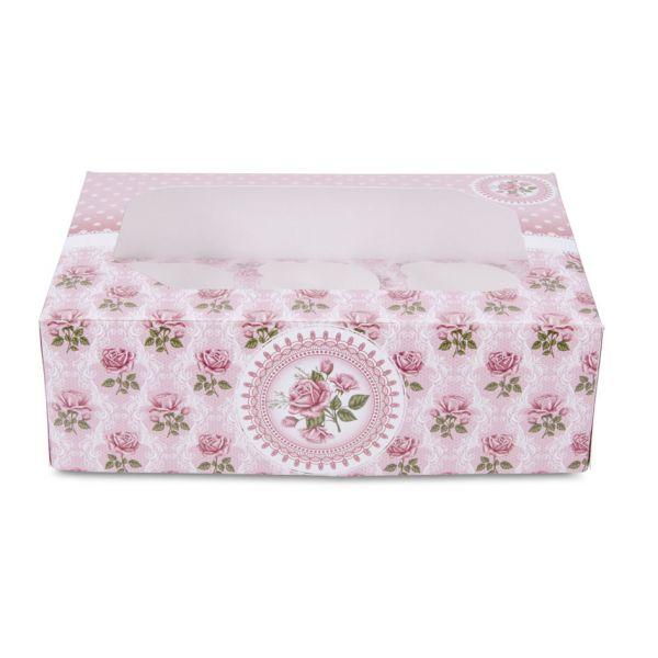 Muffinbox Rosen 6-er