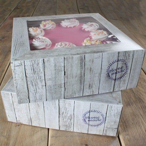 Tortenbox 26 X 26 X 12 cm Holz Design/2