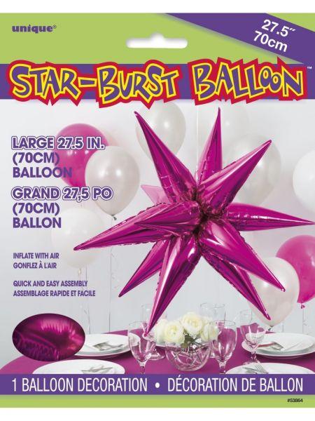 Starburst Pink 3D Folienballon