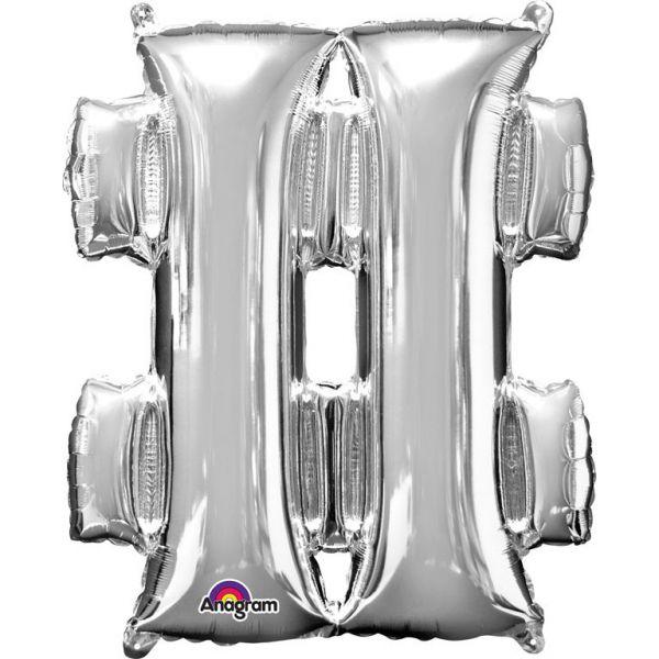 Mini Symbol Silber - # Folienballon 27 X 33 cm