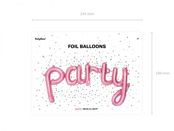 Party Folienballon Air Filled 80 X 40 cm