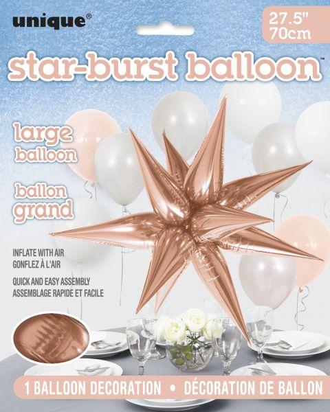 Starburst Rose Gold 3D Folienballon