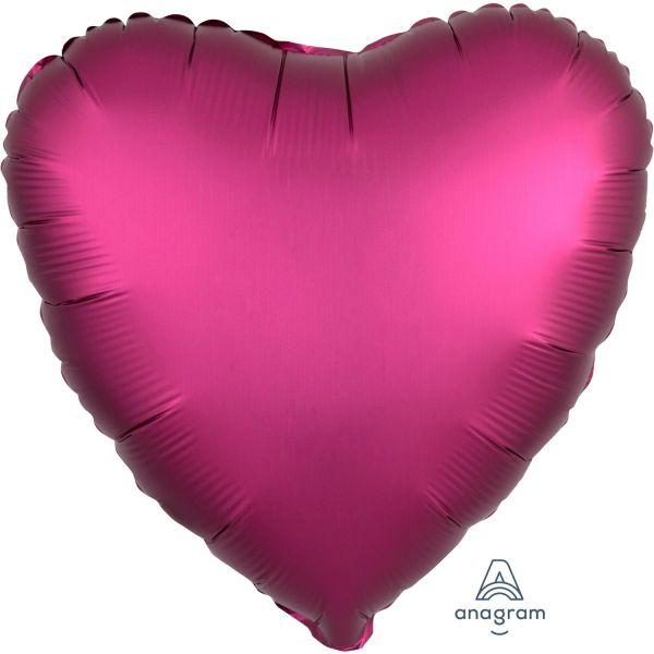 Herz Pomegranate Satin Folienballon 43 cm