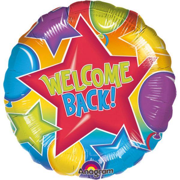 Welcome Back Folienballon 45 cm