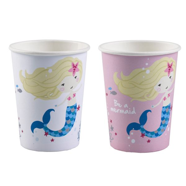 Pappbecher Mermaid 250 ml/8