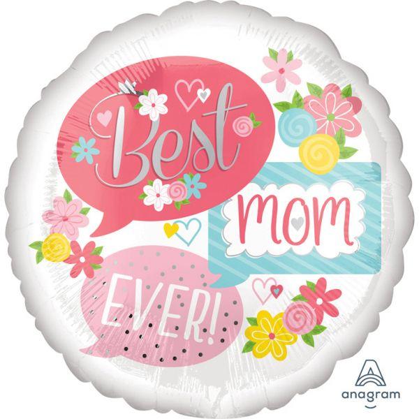 Best Mom Ever Folienballon 43 cm