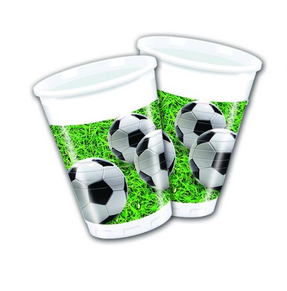 Football Party, 8 Becher