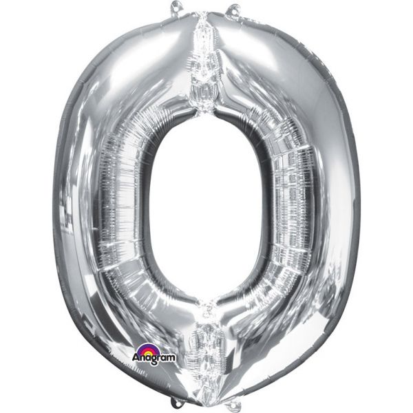 Mini Buchstabe Silber - O Folienballon 25 X 33 cm