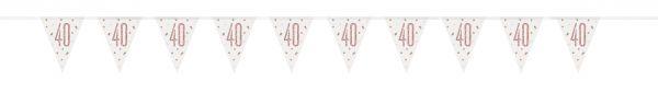 Birthday Glitz Rosegold Wimpelkette 40