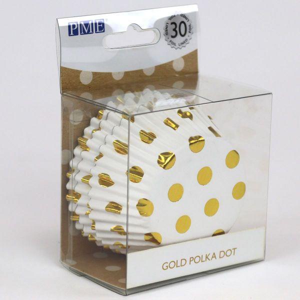 PME Muffin Förmchen Gold Polka Dot